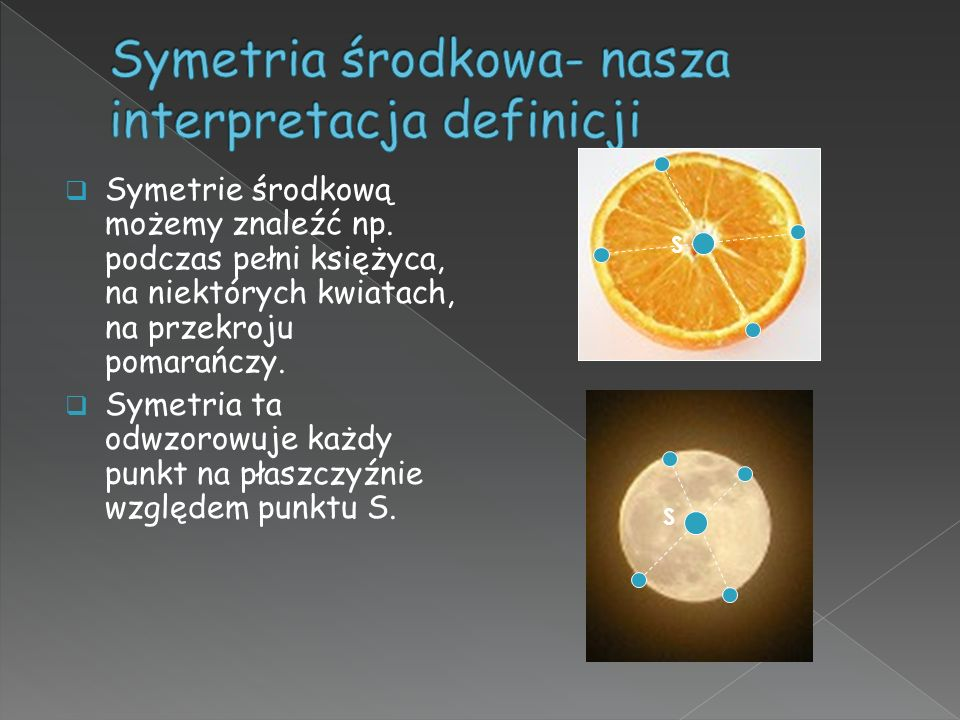 Symetria środkowa- nasza interpretacja definicji
