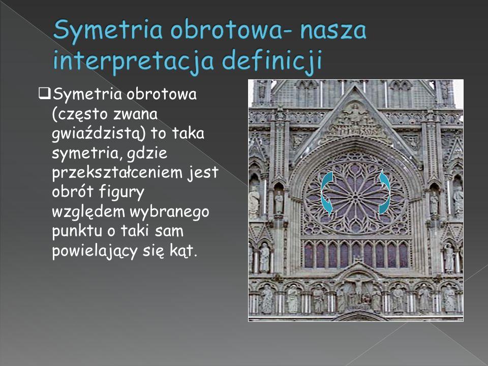 Symetria obrotowa- nasza interpretacja definicji