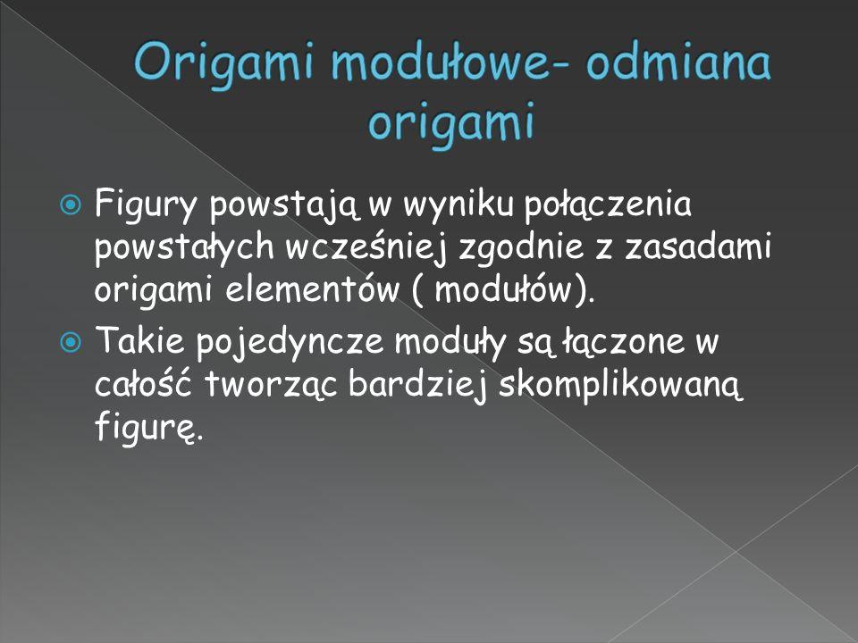 Origami modułowe- odmiana origami