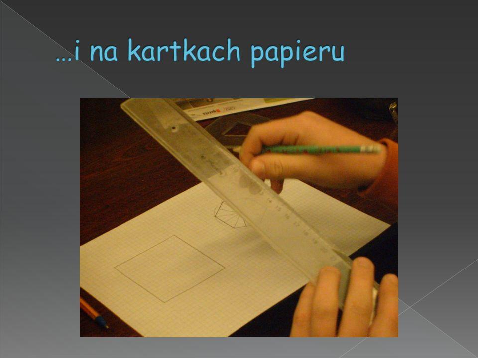 …i na kartkach papieru