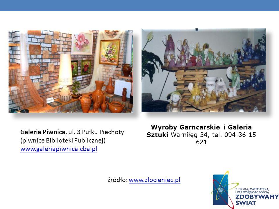 Wyroby Garncarskie i Galeria Sztuki Warniłęg 34, tel. 094 36 15 621