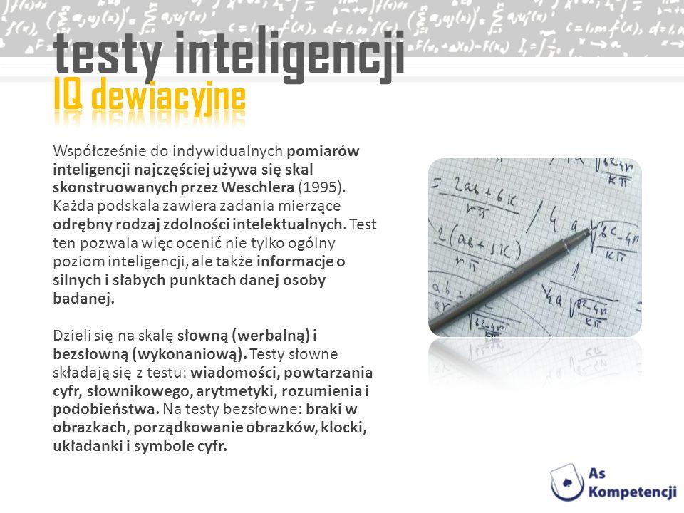 testy inteligencji IQ dewiacyjne