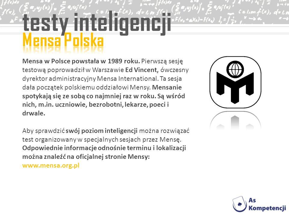 testy inteligencji Mensa Polska