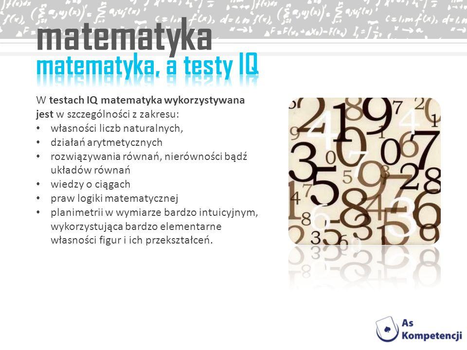 matematyka matematyka, a testy IQ