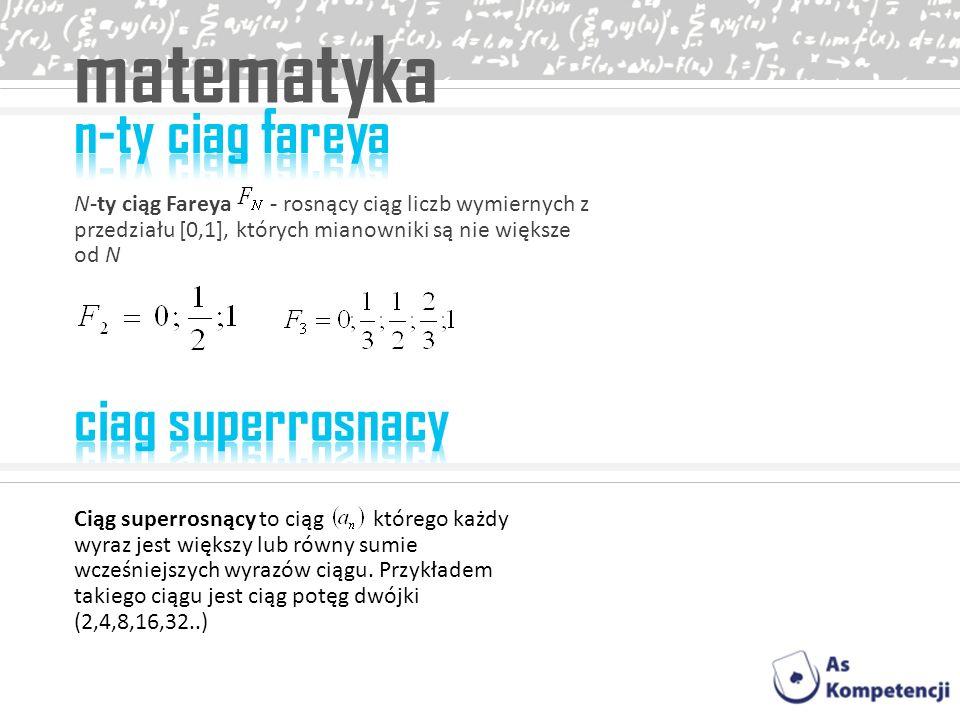 matematyka n-ty ciag fareya ciag superrosnacy