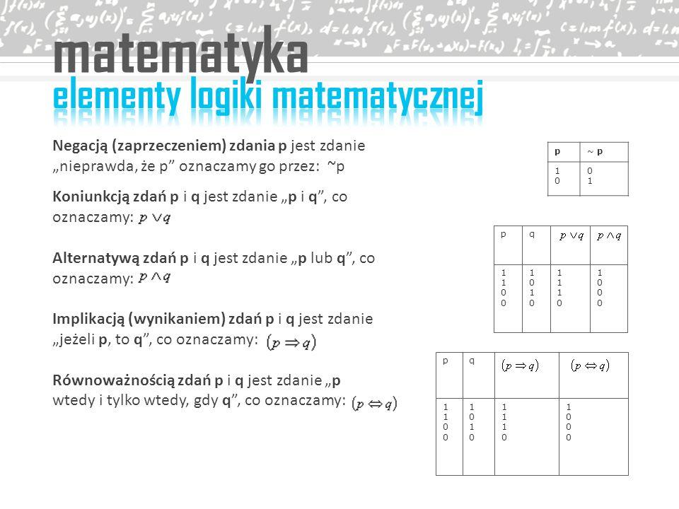 matematyka elementy logiki matematycznej