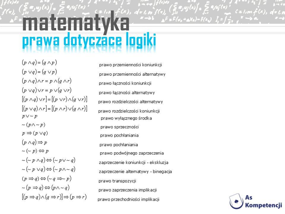 matematyka prawa dotyczace logiki