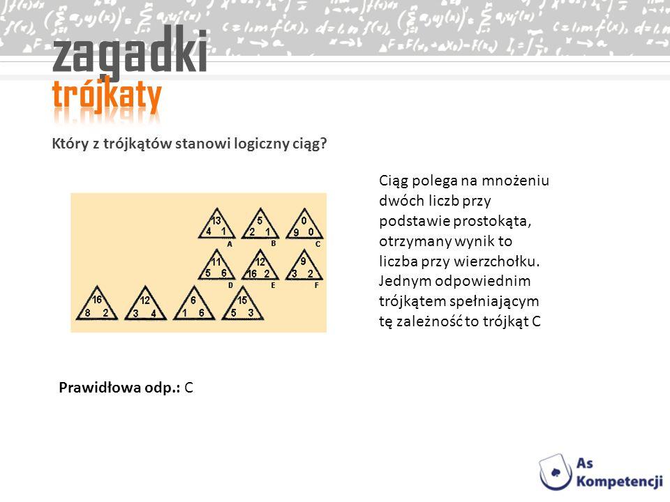 zagadki trójkaty Który z trójkątów stanowi logiczny ciąg