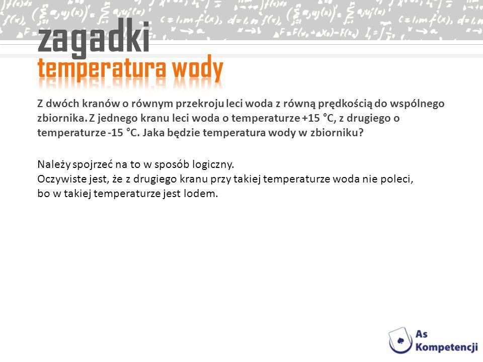 zagadki temperatura wody