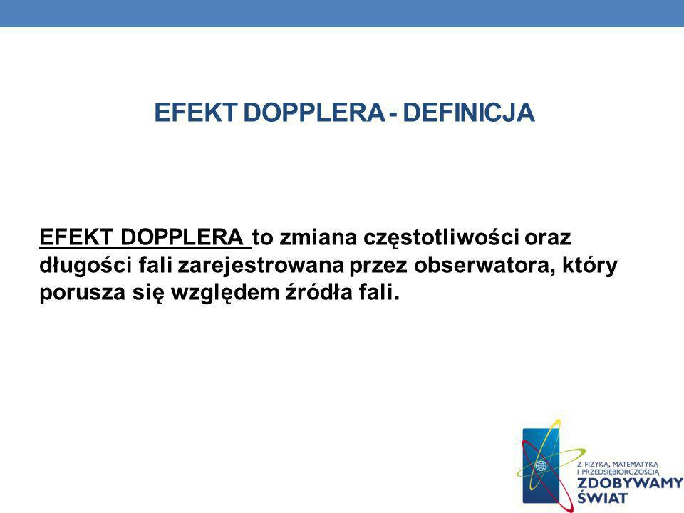 EFEKT DOPPLERA - definicja