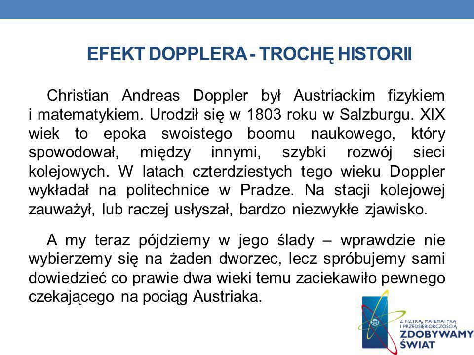 Efekt dopplera - TROCHĘ hISTORII