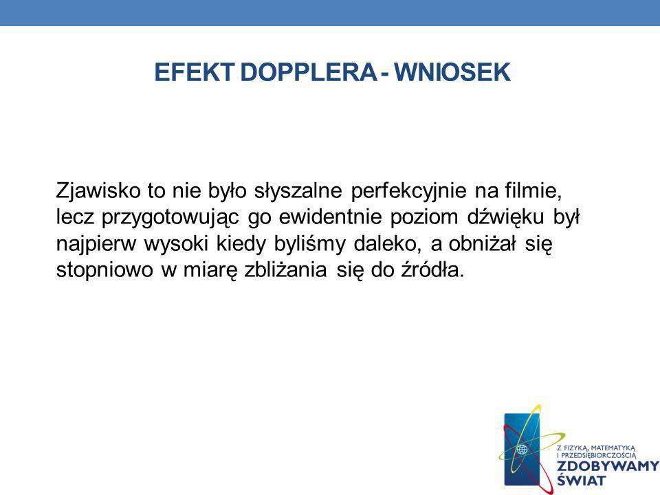 EFEKT DOPPLERA - wniosek