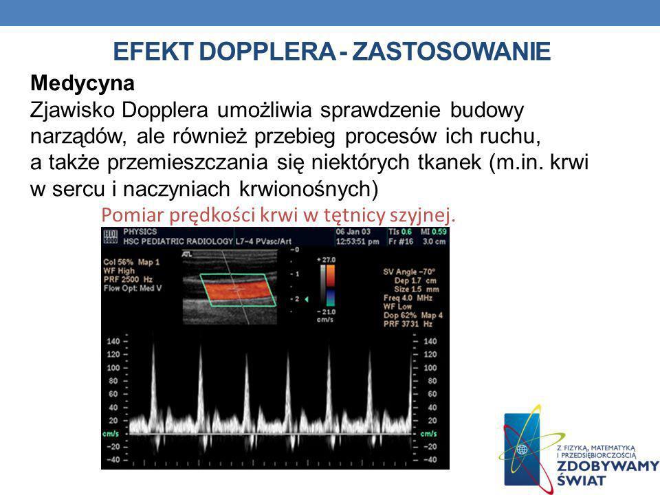 EFEKT DOPPLERA - zastosowanie