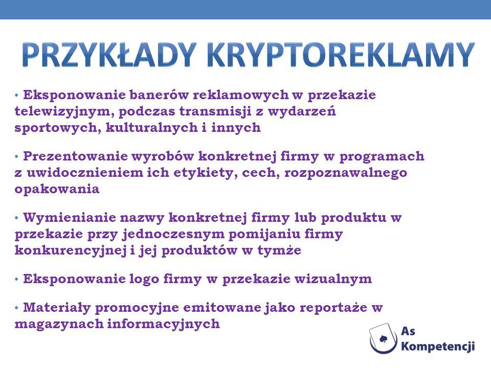 Przykłady kryptoreklamy