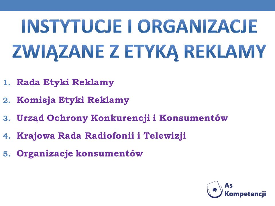 Instytucje i organizacje związane z etyką reklamy