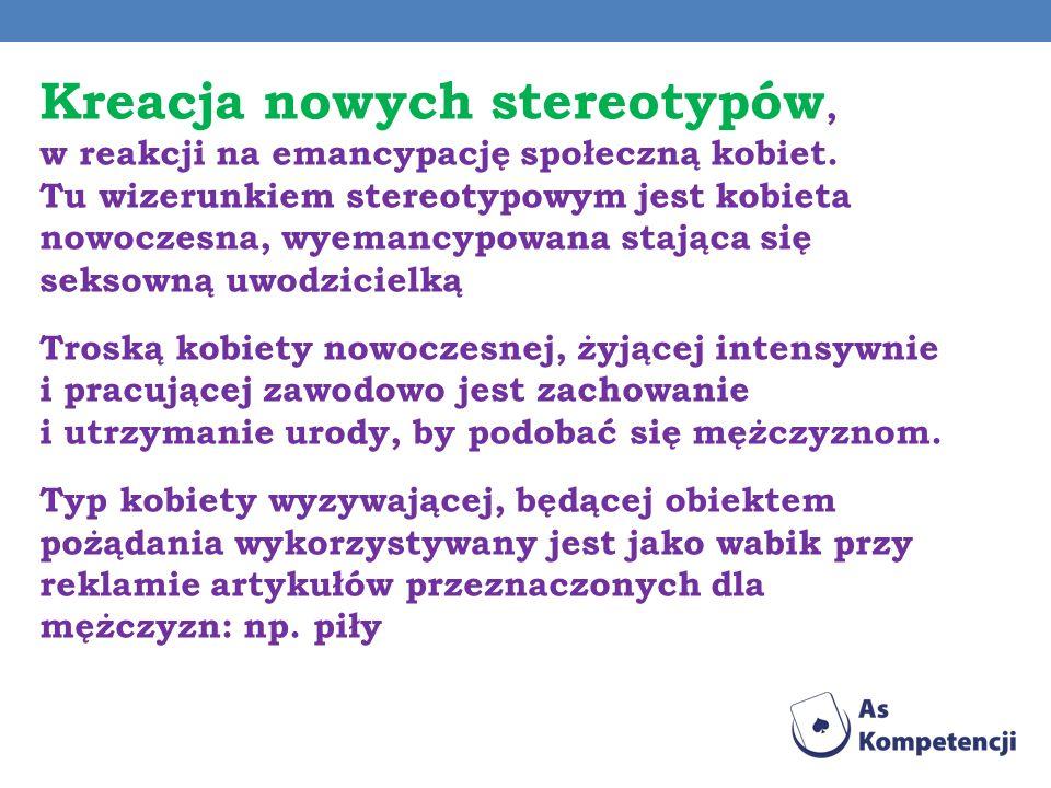 Kreacja nowych stereotypów, w reakcji na emancypację społeczną kobiet