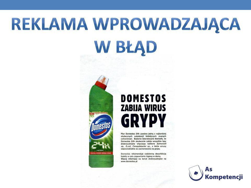 Reklama wprowadzająca w błąd
