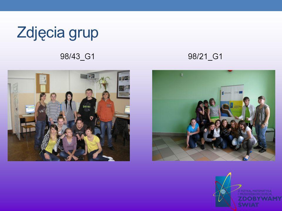 Zdjęcia grup 98/43_G1 98/21_G1
