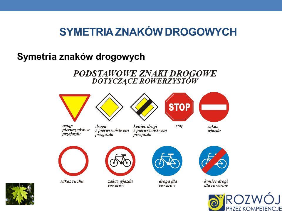 Symetria znaków drogowych