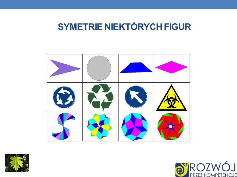 Symetrie niektórych figur