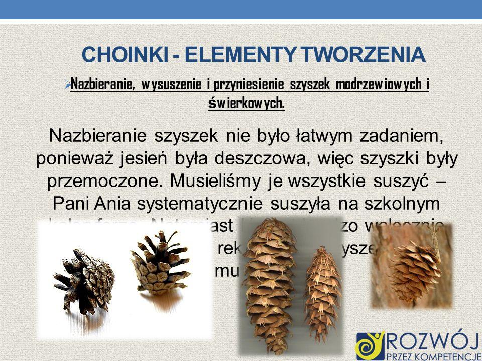 Choinki - elementy tworzenia