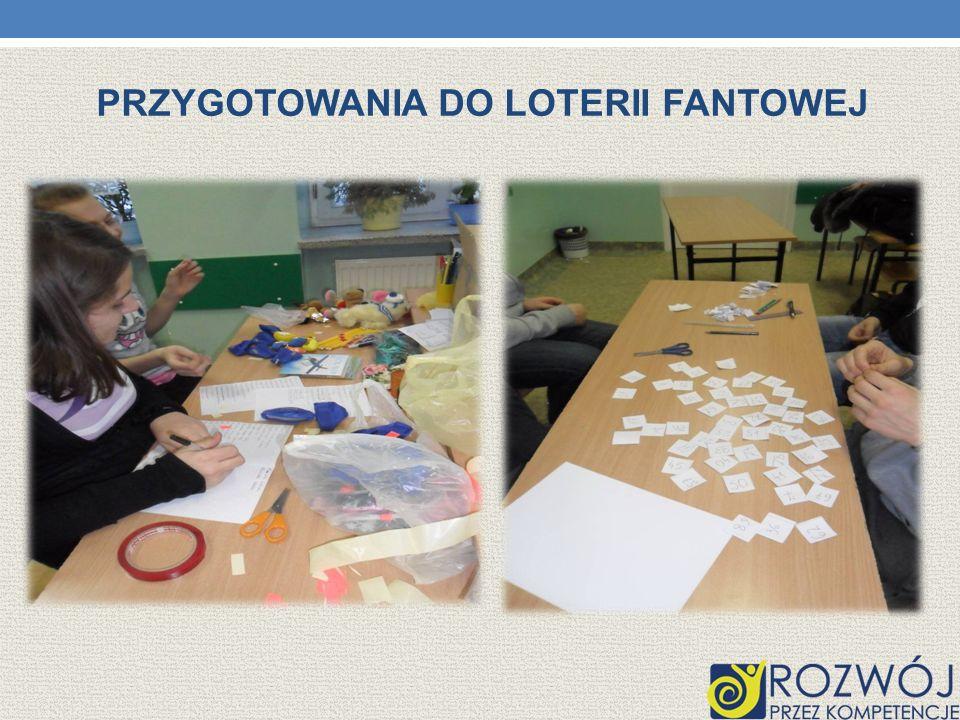 Przygotowania do loterii fantowej