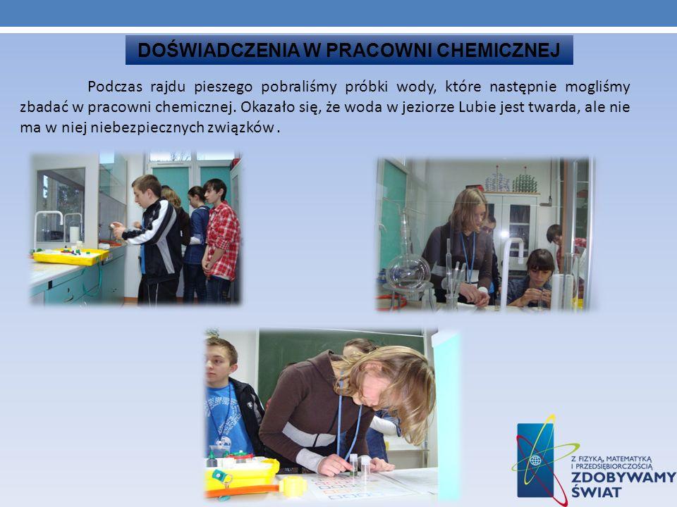 DOŚWIADCZENIA W PRACOWNI CHEMICZNEJ