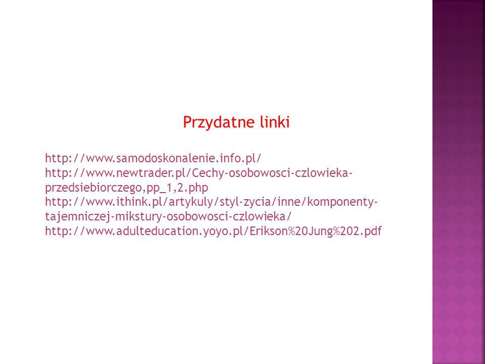 Przydatne linki http://www.samodoskonalenie.info.pl/