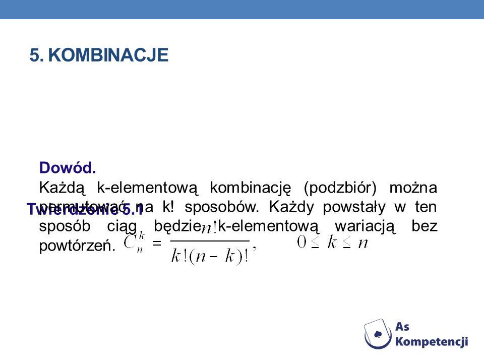 5. Kombinacje Dowód.
