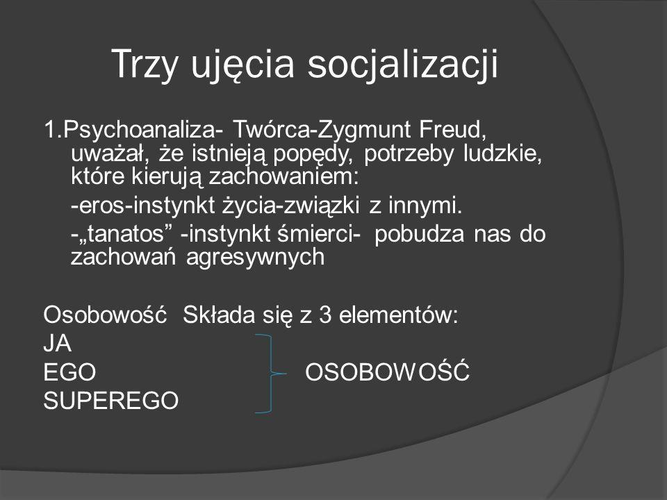 Trzy ujęcia socjalizacji