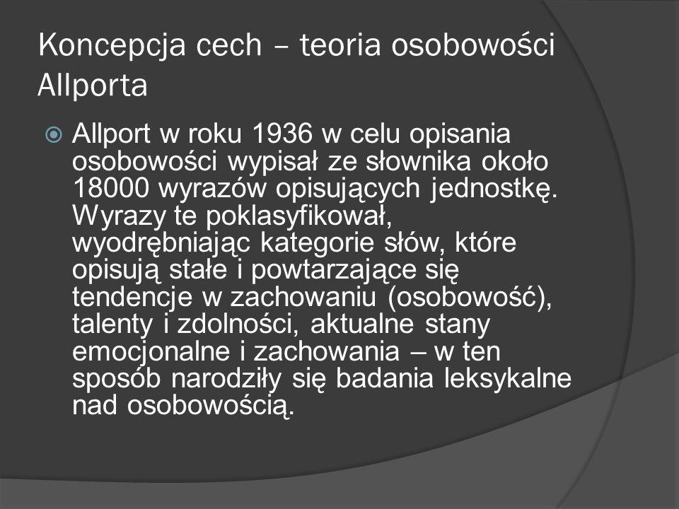 Koncepcja cech – teoria osobowości Allporta
