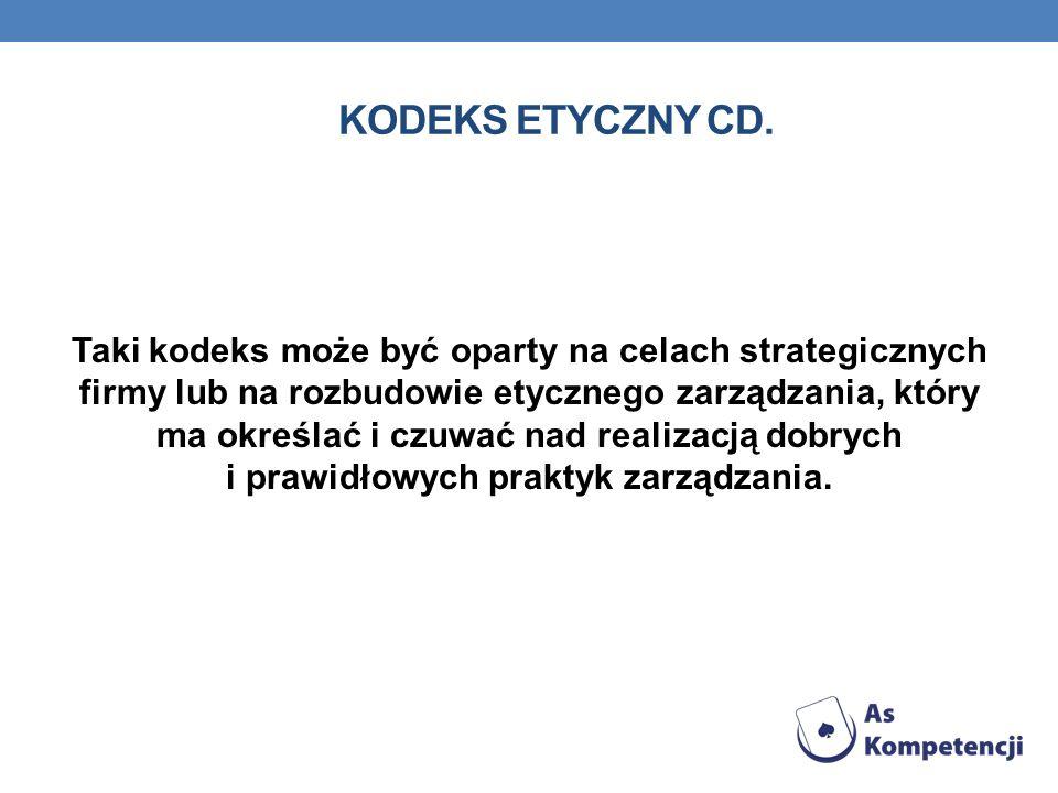 Kodeks etyczny Cd.