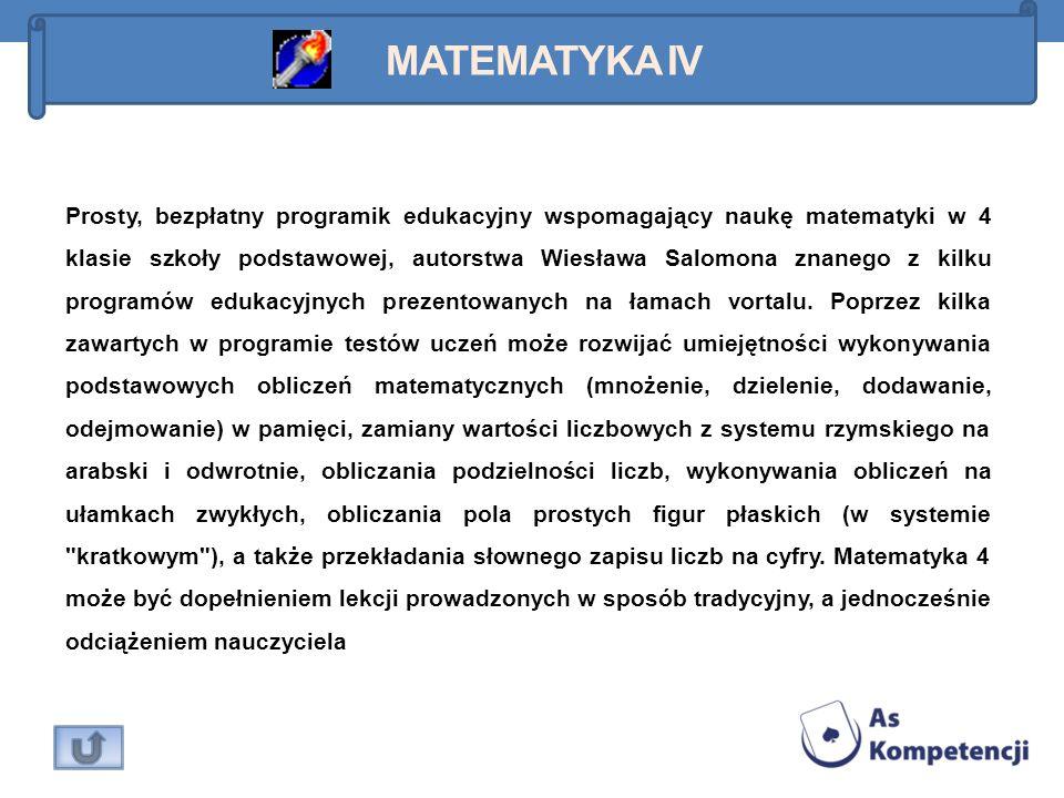 Matematyka IV