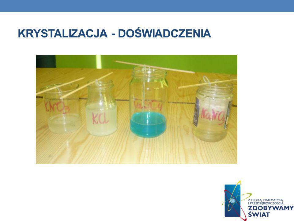 Krystalizacja - doświadczenia