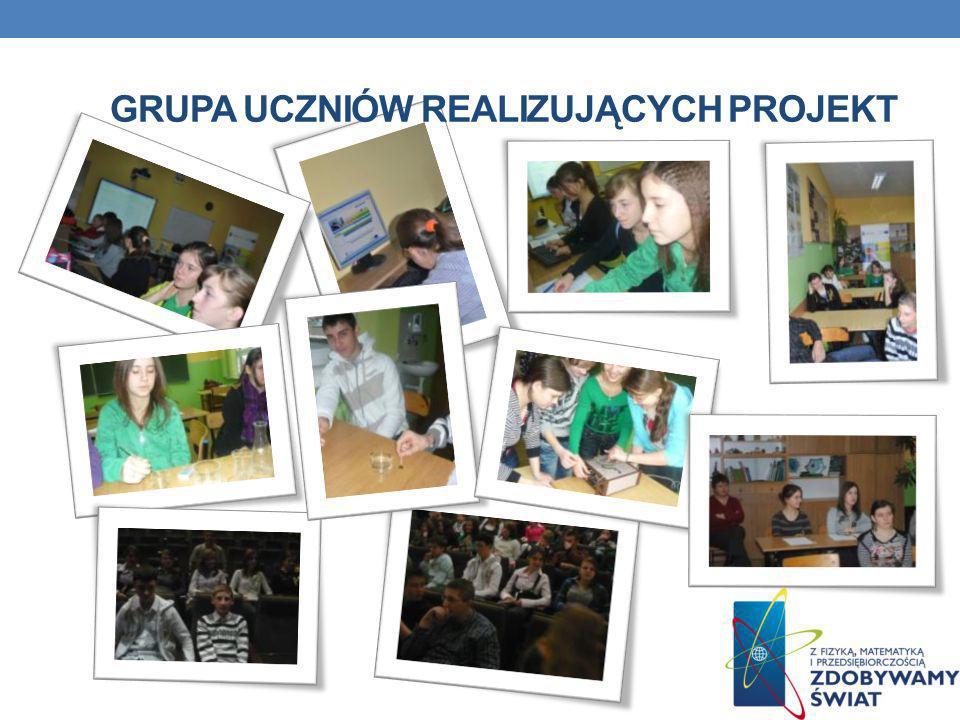 Grupa uczniów realizujących projekt