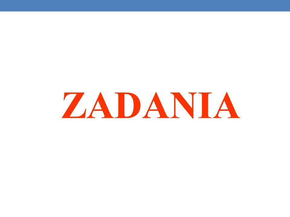 ZADANIA