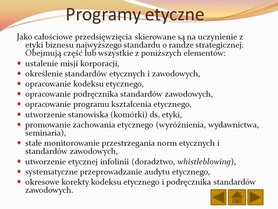 Programy etyczne