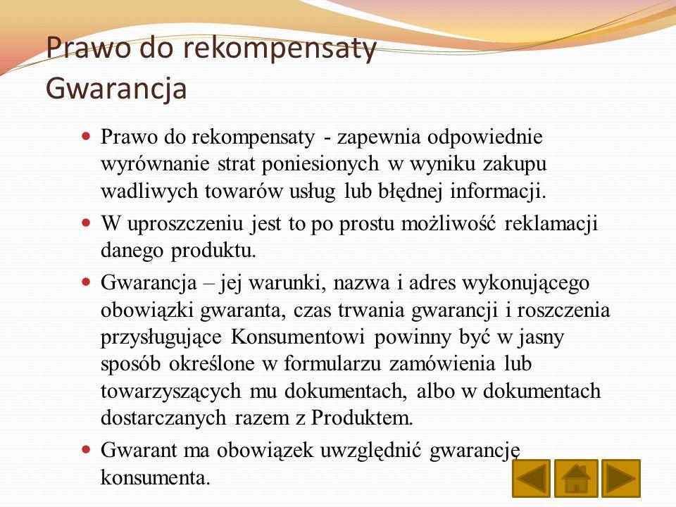 Prawo do rekompensaty Gwarancja