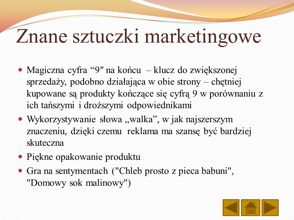 Znane sztuczki marketingowe