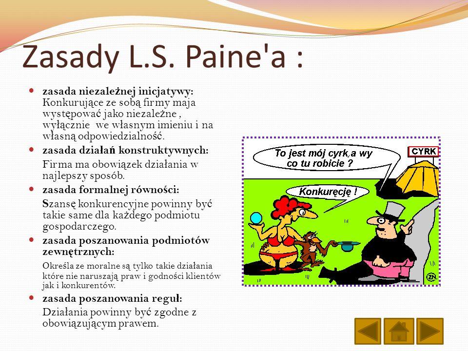 Zasady L.S. Paine a :