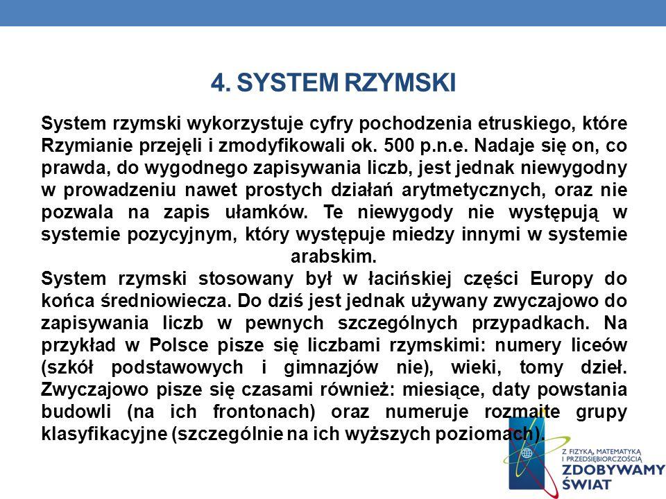 4. System rzymski
