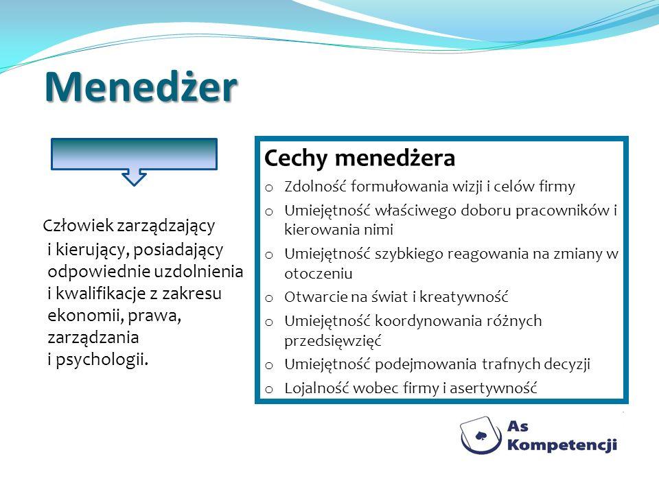 Menedżer Cechy menedżera