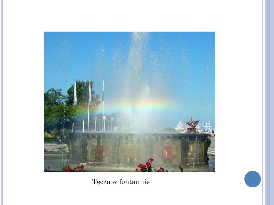 Tęcza w fontannie