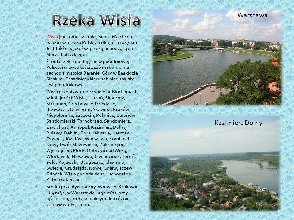 Rzeka Wisła Warszawa Kazimierz Dolny