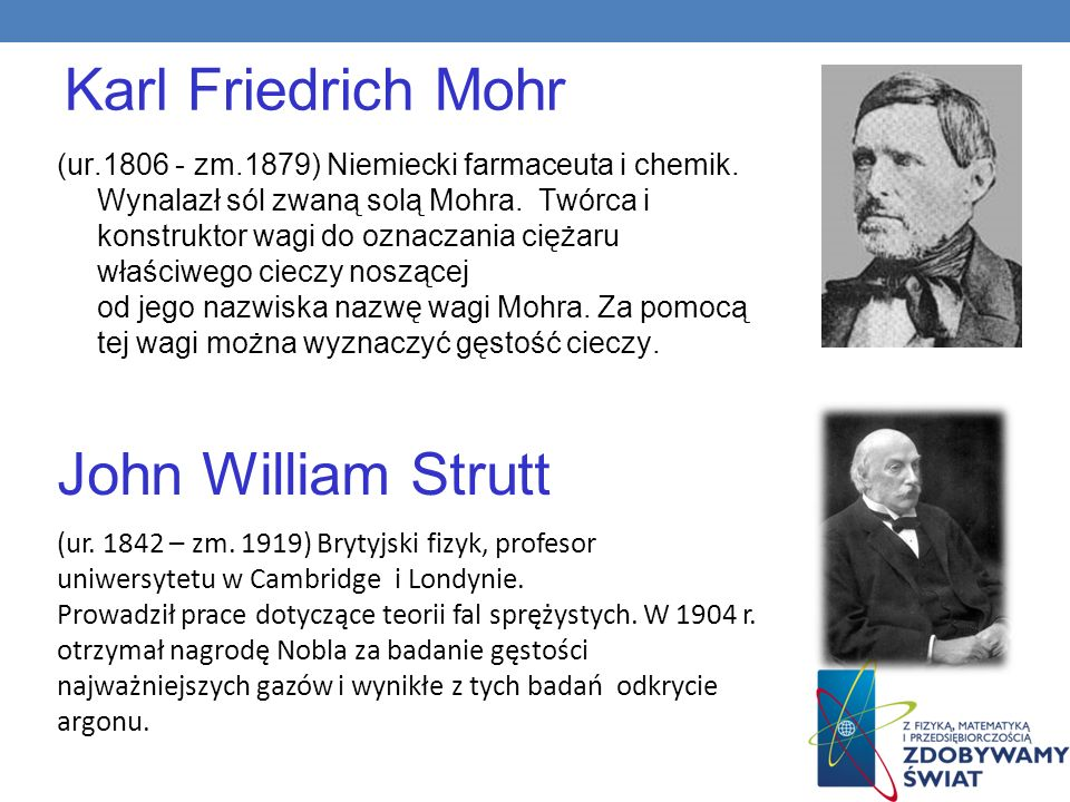 Karl Friedrich Mohr John William Strutt