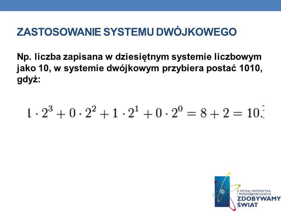 Zastosowanie systemu Dwójkowego
