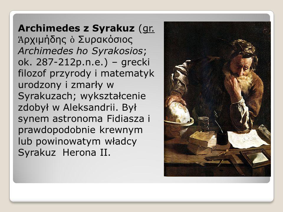 Archimedes z Syrakuz (gr