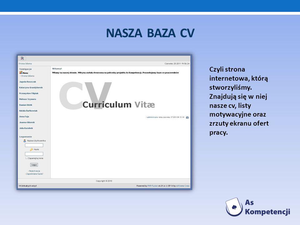 Nasza baza cvCzyli strona internetowa, którą stworzyliśmy.