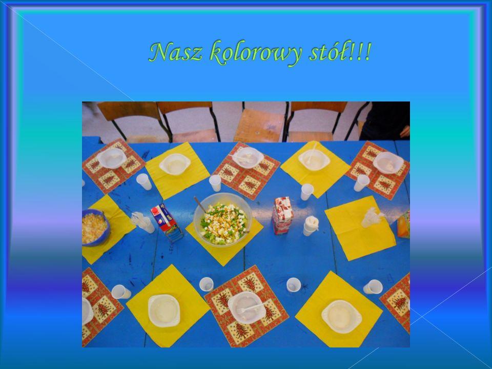 Nasz kolorowy stół!!!