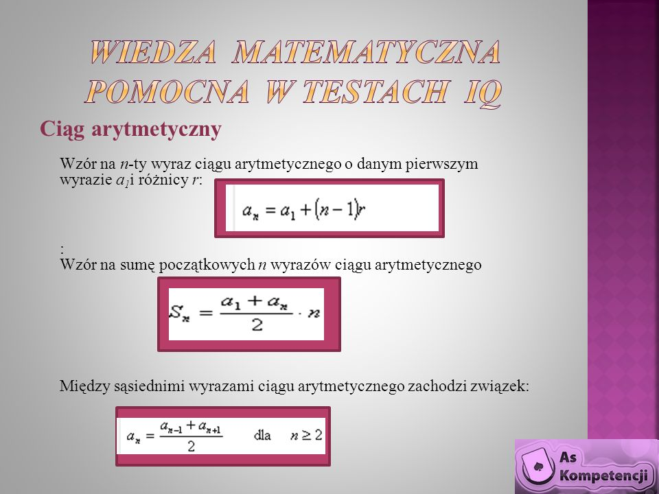 Wiedza matematyczna pomocna w testach IQ